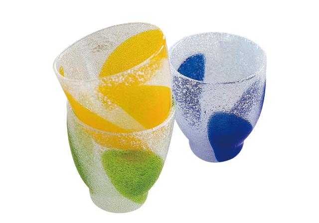 泡三つ葉グラス
