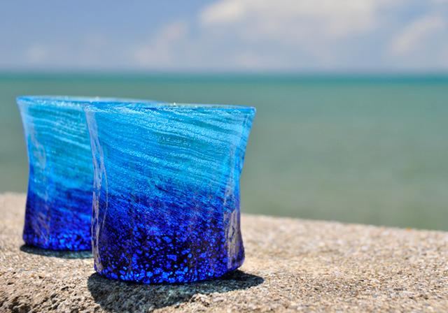 海の泡グラス
