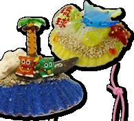 ヒオオウギ貝オブジェ