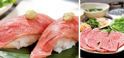 本格炭火焼肉 琉球の牛特選あぶり寿司