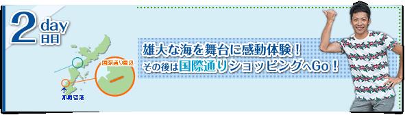 【2日目】雄大な海を舞台に感動体験!その後は国際通りショッピングへGo!