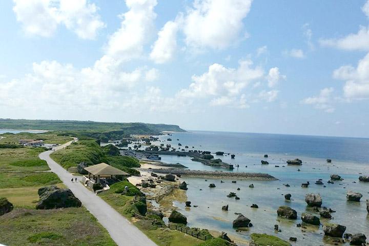 東平安名崎展望台から望む風景