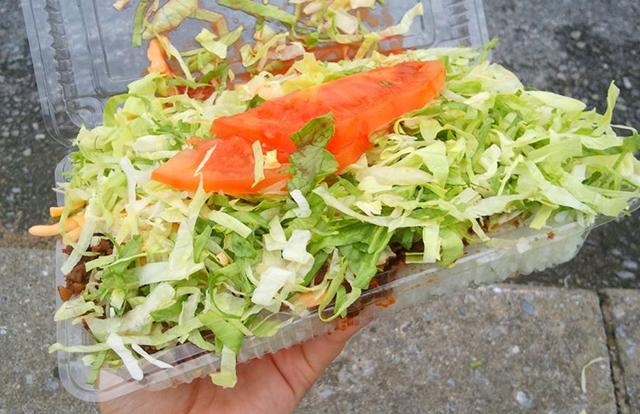 テイクアウト用タコライスチーズ野菜