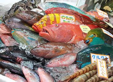 第一牧志公設市場内の鮮魚