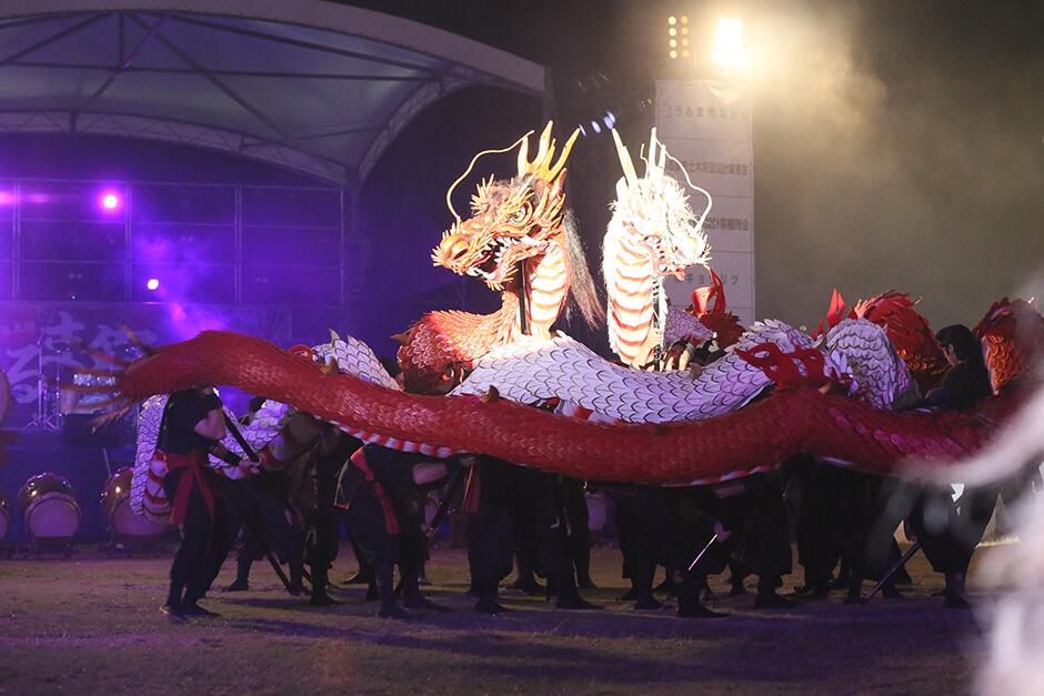 龍神と獅子の演舞