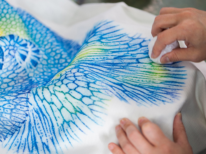 """Experience coral reef dyeing"" production experience available."