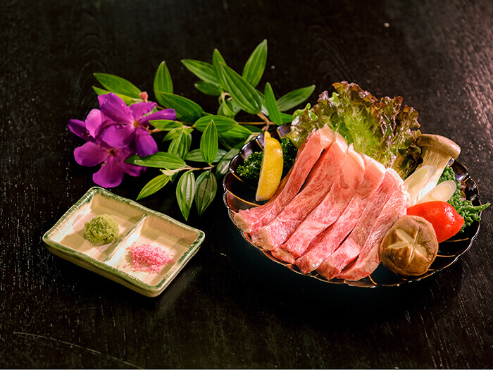 Premium wagyu sirloin steak: you get to savor the high quality fat and the steak's umami.
