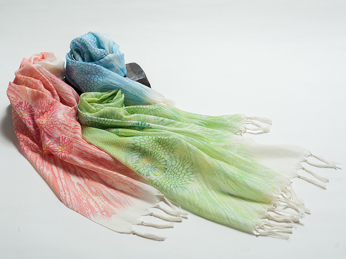 Unique scarves that incorporate Okinawan tradition