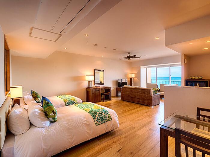 ゲストルームはそれぞれが独立したベッドルームとリビングルームに、バスルームとドレスルーム。空間のゆとりが時をゆるやかに変えていきます。