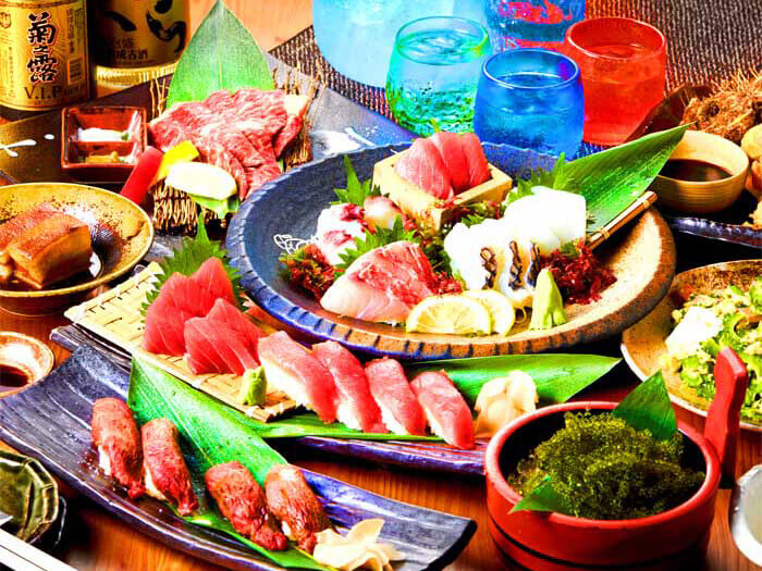 The large menu offers a wide variety of dishes–from traditional Okinawan to home-style.