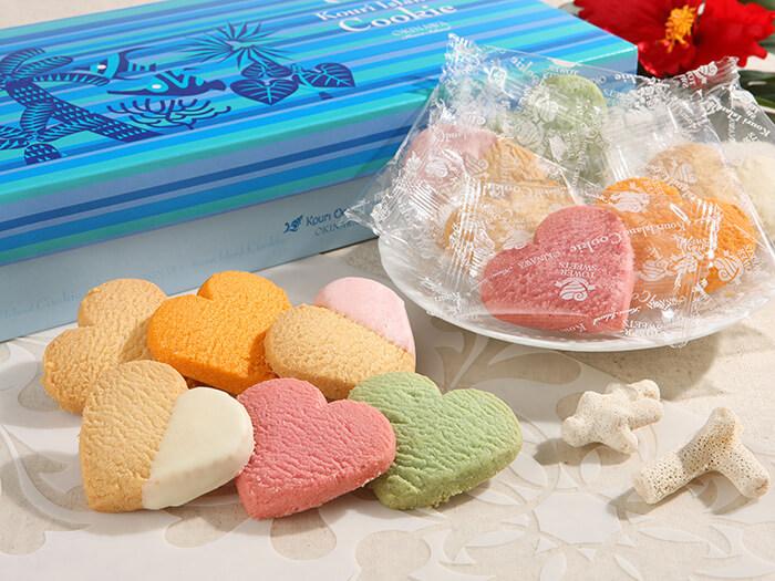 古宇利海洋塔限定的心型餅乾,有4種口味(沖繩香檬、桶柑、原味、扶桑花)