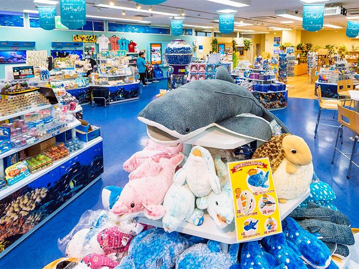 沖縄美ら海水族館限定のお菓子や雑貨、ぬいぐるみが盛りだくさん!