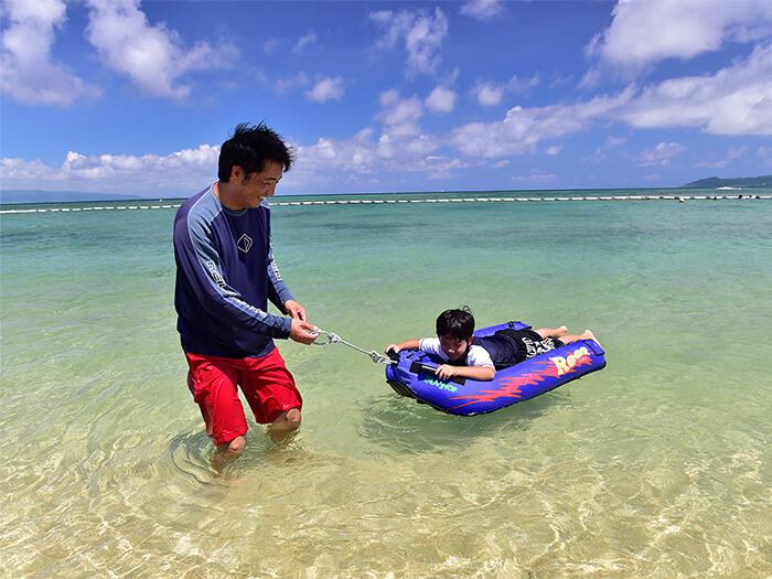 【フサキビーチ】ビーチではお子様も楽しめるレンタルアイテムも