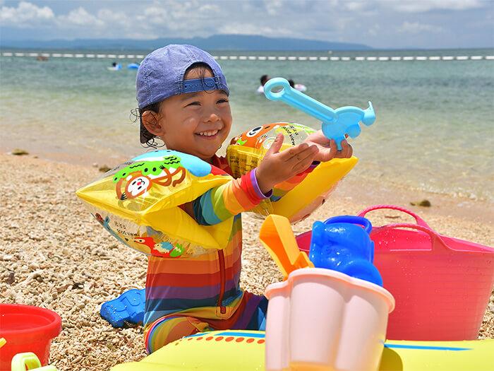 【フサキビーチ】砂遊びセットは無料でご利用いただけます