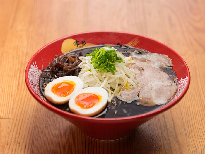 The Black ramen is mixed with fried garlic oil which provides a nice accent of depth to the broth.