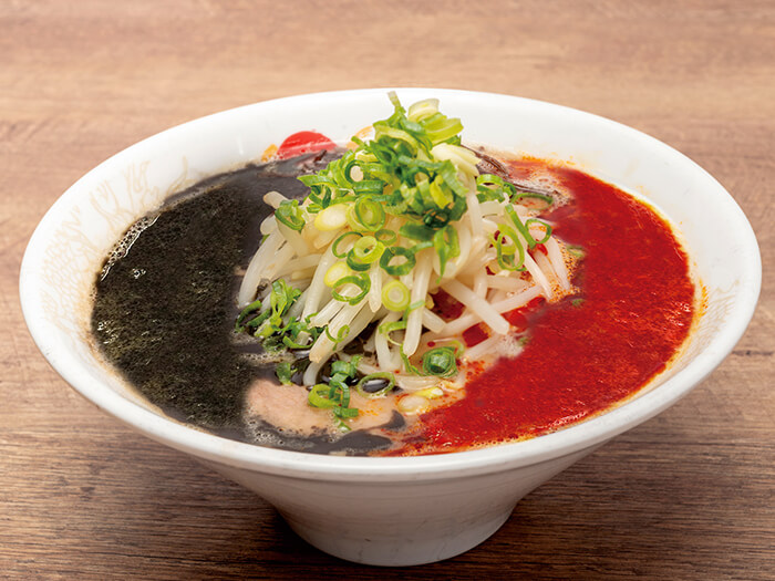 Enjoy 3 different flavors in 1 bowl! Ryukyu Black Fire Ramen will sure surprise you both visual and flavor wise.