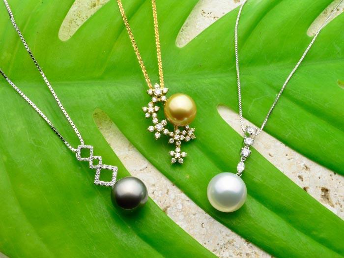 琉球珍珠主要是黑、白、金三色