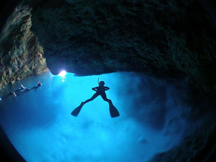 青之洞窟 主要地點