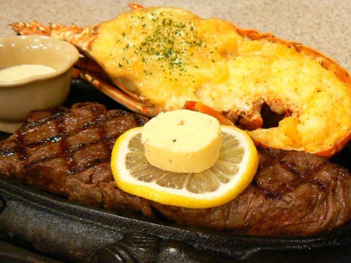 人氣的龍蝦&牛排套餐