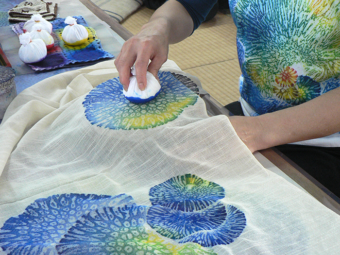 """""""Experience coral reef dyeing"""" production experience available."""