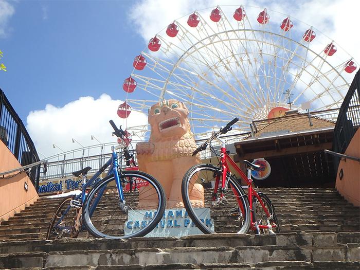 出租自行車。腳踏車沖繩旅遊。我們會安排支援汽車。
