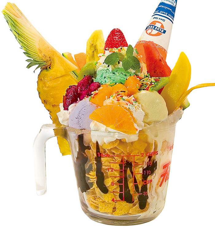 結合海鹽冰淇淋所研發的冰品「水果探索樂園」也是人氣點心