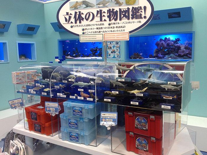 有各種花樣的海洋生物模型組合盒。含稅2268日圓起。