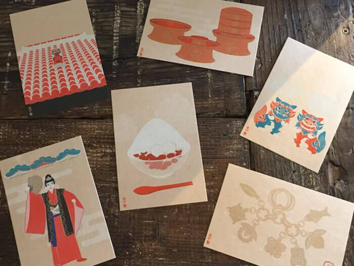 Mano獨家推出的沖繩圖案明信片