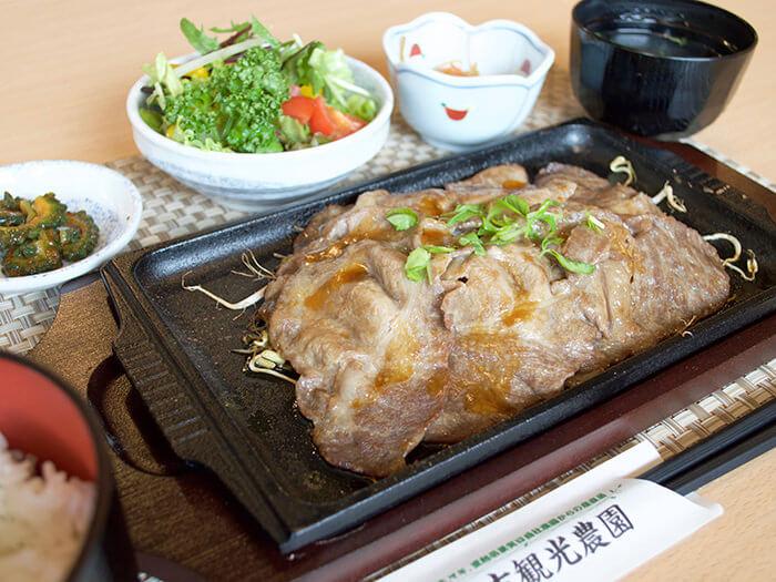 品牌豬Agu豬結合生薑的最佳組合 ,薑汁煎Agu豬肉片特餐 980日圓