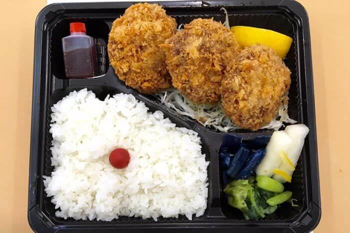 炸肉餅便當(3個入) 750日圓