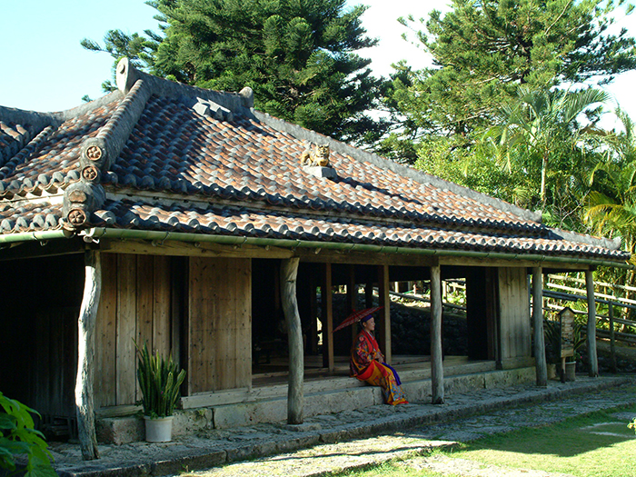 Kyu Oshiroke. Registered tangible cultural property. Japanese old folk houses built over 200 years ago.