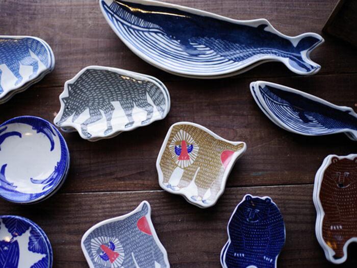 katakata製作的動物圖案盤子