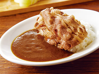 口感柔和的的咖哩,建議搭配川燙過的肉片一起享用!