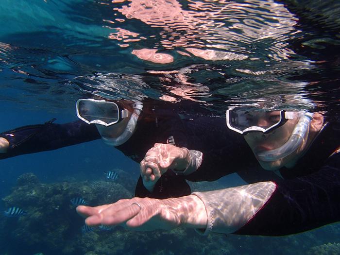 海中也能增進彼此良好的信任關係!歡迎情侶一同們來體驗