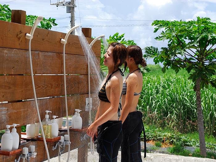 活動結束後,也備有溫水淋浴間與吹風機以及補妝室