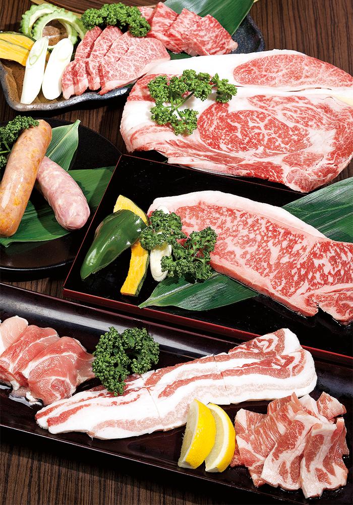 「Agu豬肉3種拼盤」等,高級肉品店的直營店才能提供的豐富菜色