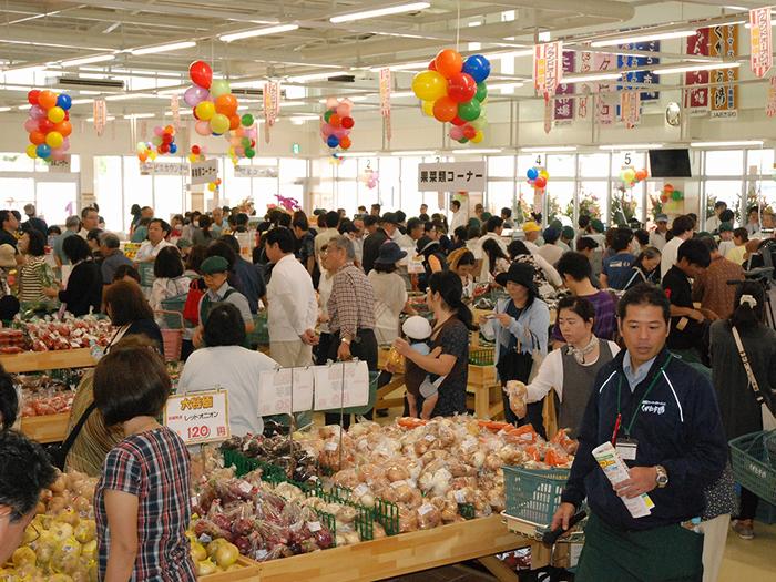 Full line of seasonal vegetables (scene of Farmers Market Haebaru KUGANI ICHIBA)