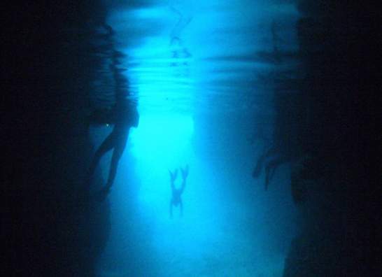 This is the most popular spot in Okinawa, the Blue Cave