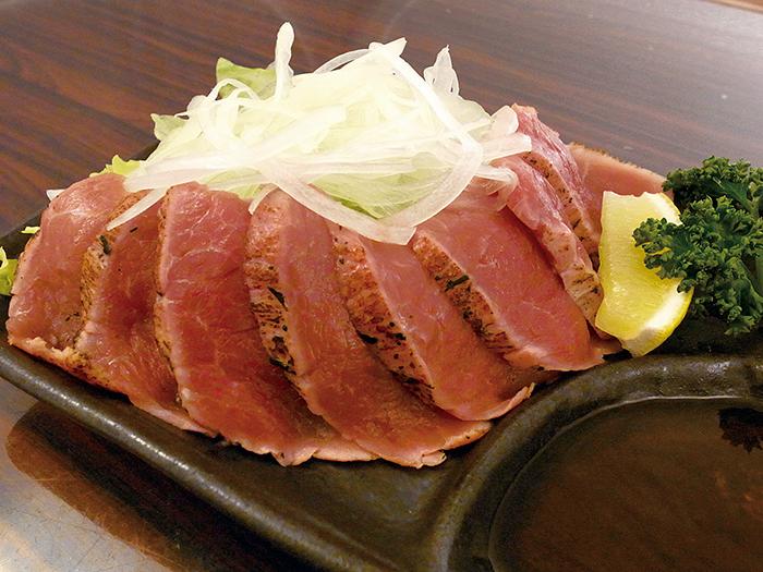 「炙燒琉美豬腰肉」 正因為新鮮才能使用這種突顯美味的烹調方式。