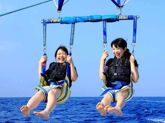 【初級】適合初學者、兒童的行程 50m 特別推薦給怕高卻很想體驗拖曳傘樂趣的朋友!