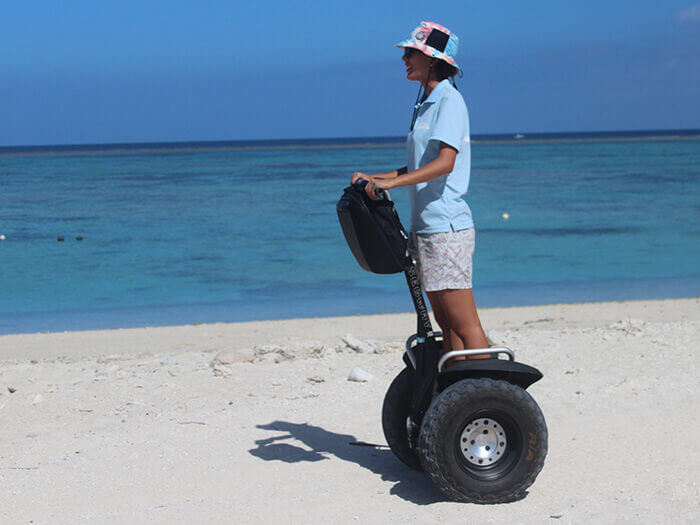 "Optional half day Nagannu tour – ""Offroad Segway - Explore Nagannu feeling the breeze"" Plan *Available from January to March. Lunch included. Only for persons over the height of 145cm"