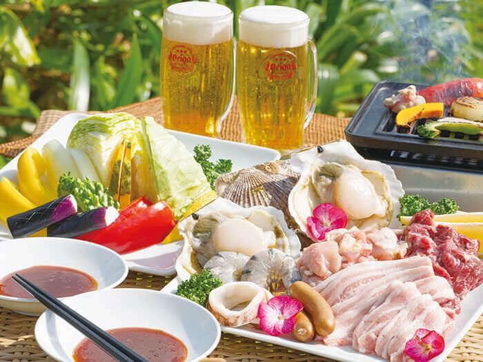 提供可當天預約並能空手前來的BBQ烤肉方案。器材費已全部包含在價格內