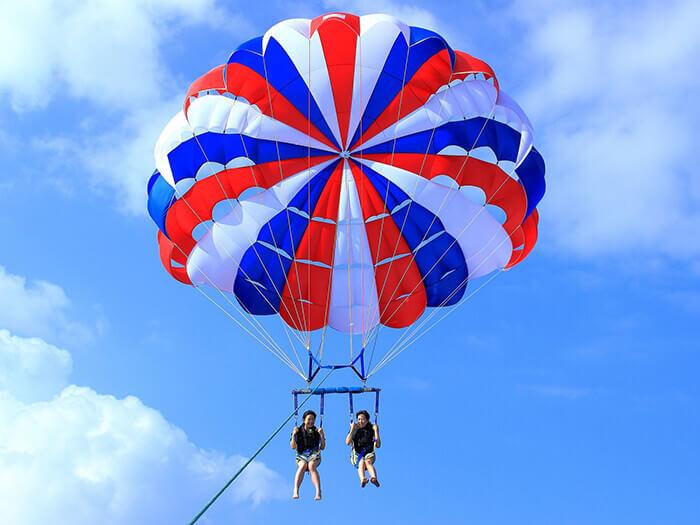 【標準】一般行程 100m 沖繩拖曳傘活動中最普遍的長度,人氣歷久不衰!