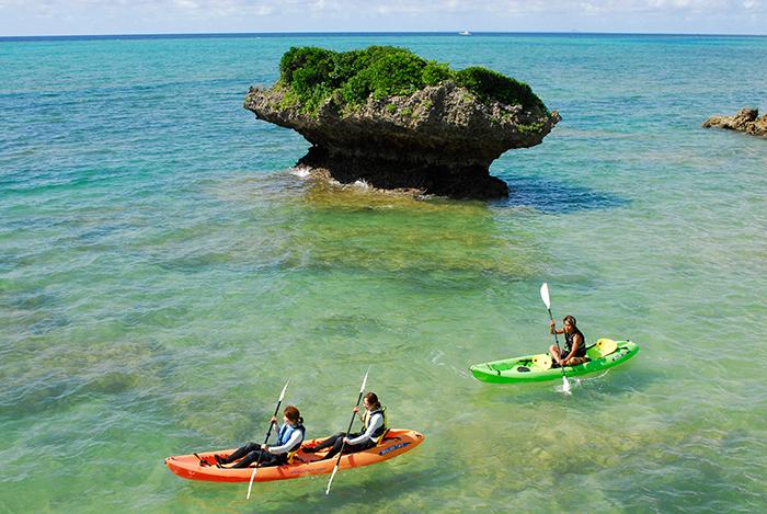 我們也有安排搭乘海上獨木舟的行程