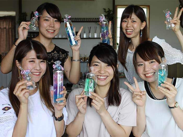 You will never forget the fragrance experience here in Okinawa!