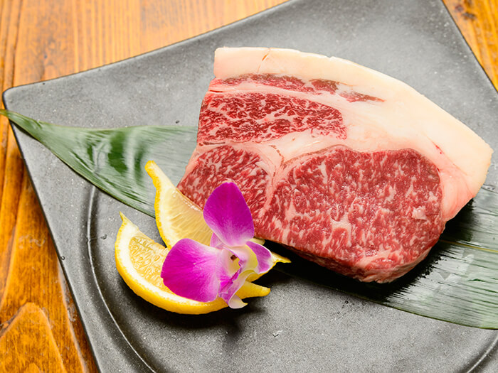 The Okinawan Wagyu beef comes directly from the farm. Tender and truly exceptional.