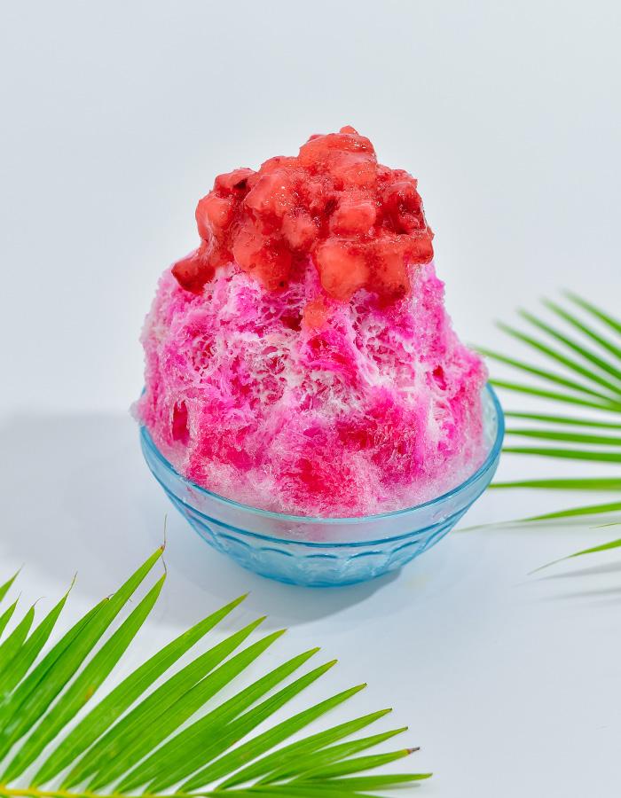 水果刨冰(草莓、芒果、碧綠鳳梨等口味)也很人氣!