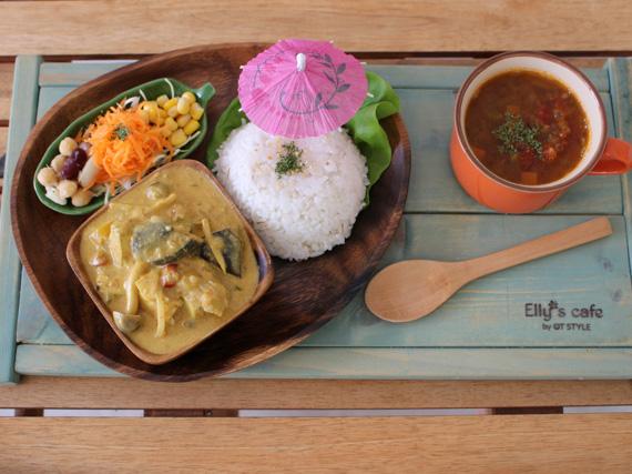 人氣菜單純素咖哩。雖未含肉類仍不失芳香濃醇,是Elly's大推的健康餐點。