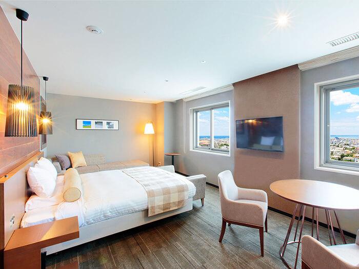 オーシャンビュー デラックスクイーン  12階のラグジュアリーな客室