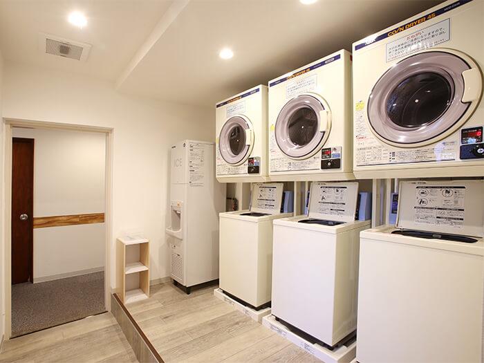 コインランドリー有。洗濯洗剤・柔軟剤各種無料